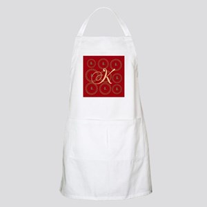 Cute Gold Bird Red Apron