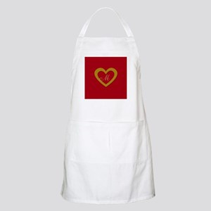 Cute Gold Red Sweet Heart Apron