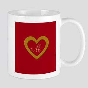 Cute Gold Red Sweet Heart Mugs