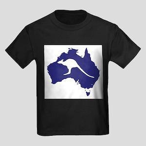 Australia Map With Kangaroo Silhouette T-Shirt