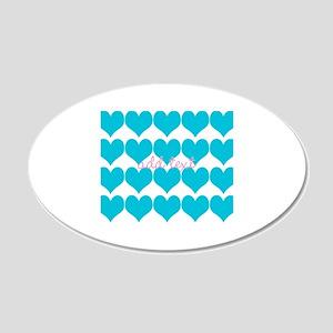 Cute Sea Blue Hearts Wall Sticker
