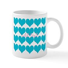 Cute Sea Blue Hearts Mugs
