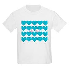 Cute Sea Blue Hearts T-Shirt
