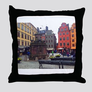 Downtime in Stockholm Throw Pillow
