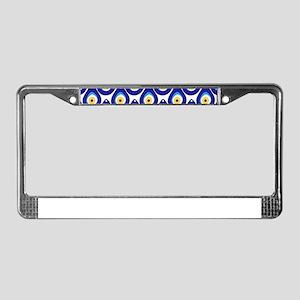 Evil eye protection pattern de License Plate Frame