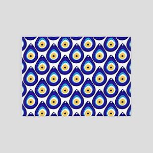 Evil eye protection pattern design 5'x7'Area Rug