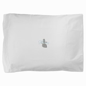 Cute Add Text Merry Christmas Silver Blue Pillow S
