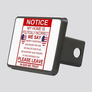 Politically Incorrect Rectangular Hitch Cover