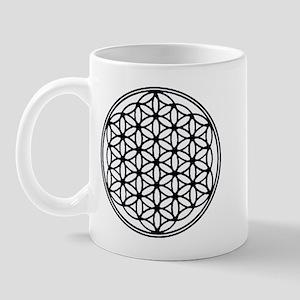 Flower of Life in Black Mug