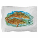 Red Fish Pillow Sham