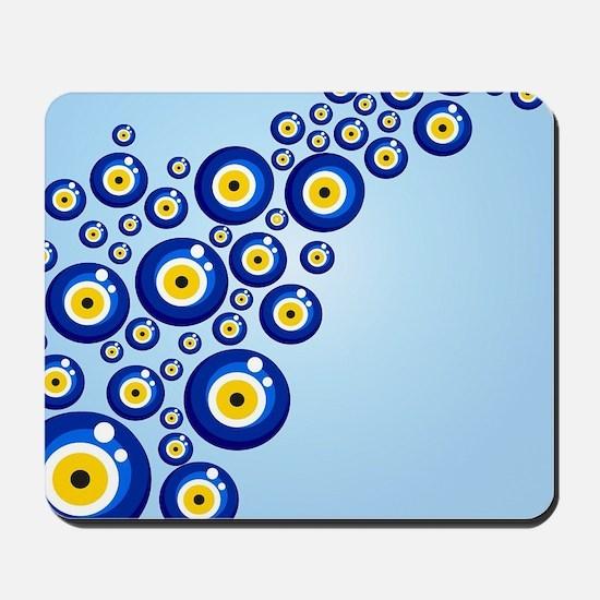 Evil eye protection pattern design Mousepad