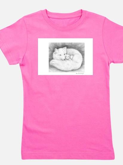 Arctic_fox_family_mini_poster T-Shirt