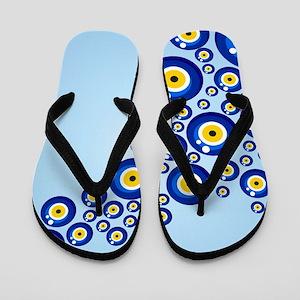 Evil eye protection pattern design Flip Flops