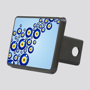 Evil eye protection patter Rectangular Hitch Cover