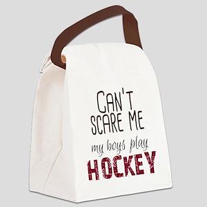 Cant Scare Me My Boys Play Hockey Canvas Lunch Bag