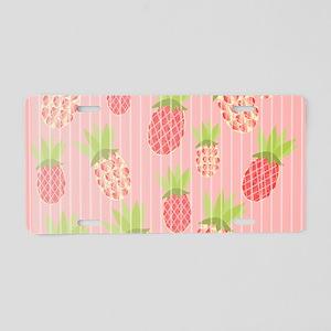 Pineapple sweet pink Aluminum License Plate