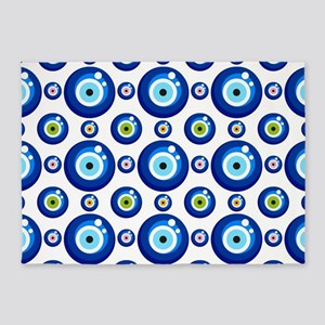 Evil eye protection pattern design 5'x7'Area Rug