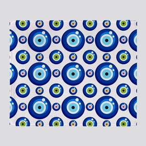 Evil eye protection pattern design Throw Blanket