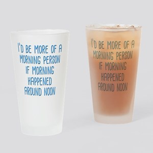 Morning Person Drinking Glass