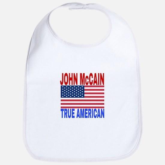 JOHN McCAIN TRUE AMERICAN Baby Bib