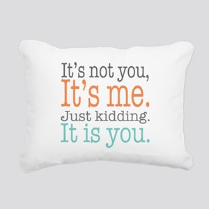 It's Not Me Just Kid Rectangular Canvas Pillow