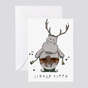Jingle Hippo Greeting Cards (6) Greeting Cards