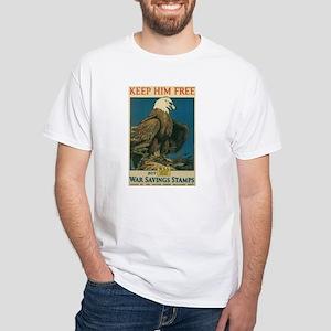 Keep Him Free White T-Shirt