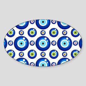 Evil eye protection pattern design Sticker
