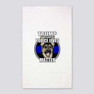 Trump because police matter Area Rug
