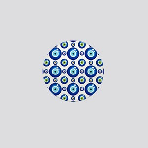 Evil eye protection pattern design Mini Button