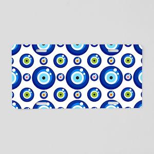 Evil eye protection pattern Aluminum License Plate
