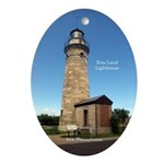 Erie Land Lighthouse Oval Ornament