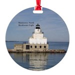 Manitowoc North Breakwater Light Round Ornament