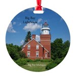 Big Bay Lighthouse Round Ornament