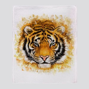 Artistic Tiger Face Throw Blanket