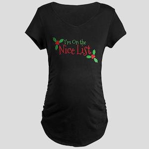 Nice List Maternity Dark T-Shirt