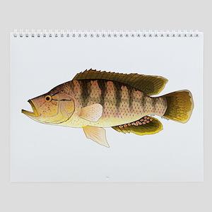 African Fishes Ii Wall Calendar