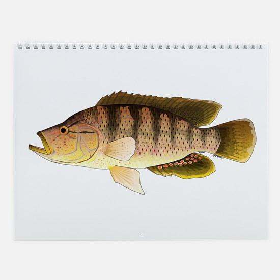African Fishes Ii Wall Calendar