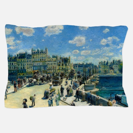 Pont Neuf by Auguste Renoir Pillow Case