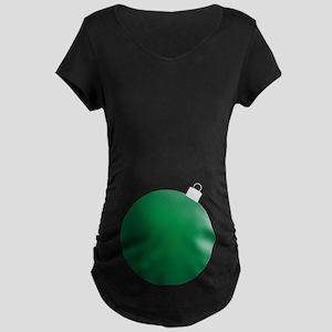Ornament Green Maternity Dark T-Shirt