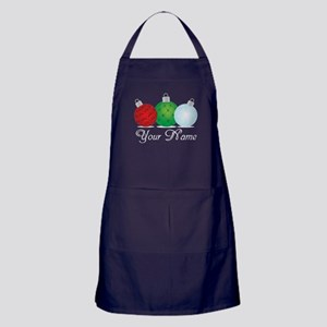 Ornaments Personalized Apron (dark)