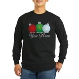 Customized christmas Long Sleeve Dark T-Shirts