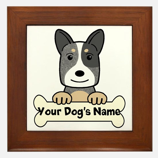 Personalized Cattle Dog Framed Tile