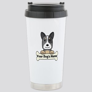 Personalized Cattle Dog Stainless Steel Travel Mug