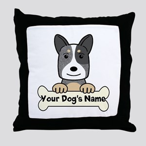 Personalized Cattle Dog Throw Pillow