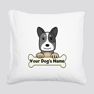 Personalized Cattle Dog Square Canvas Pillow