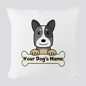 Personalized Cattle Dog Woven Throw Pillow