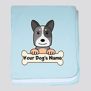 Personalized Cattle Dog baby blanket
