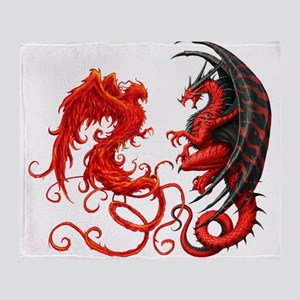 Can The Dragon Beat The Phoeni Throw Blanket