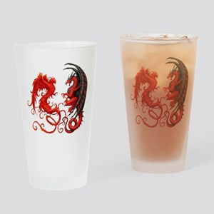 Can The Dragon Beat The Phoeni Drinking Glass